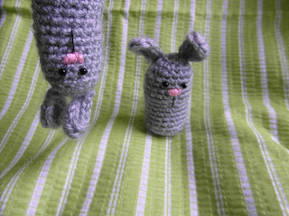 Handmade by Just-in Easter bunny amgurumi or a finger puppet - Easter #crochet