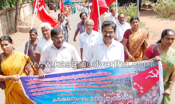 March, Collectorate, Karshaka-Sangam, Committee, Kasaragod, Kerala, Kerala News, International News, National News.