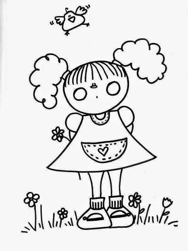 Dibujos para colorear maestra de infantil y primaria - Dibujos para pintar en tela infantiles ...