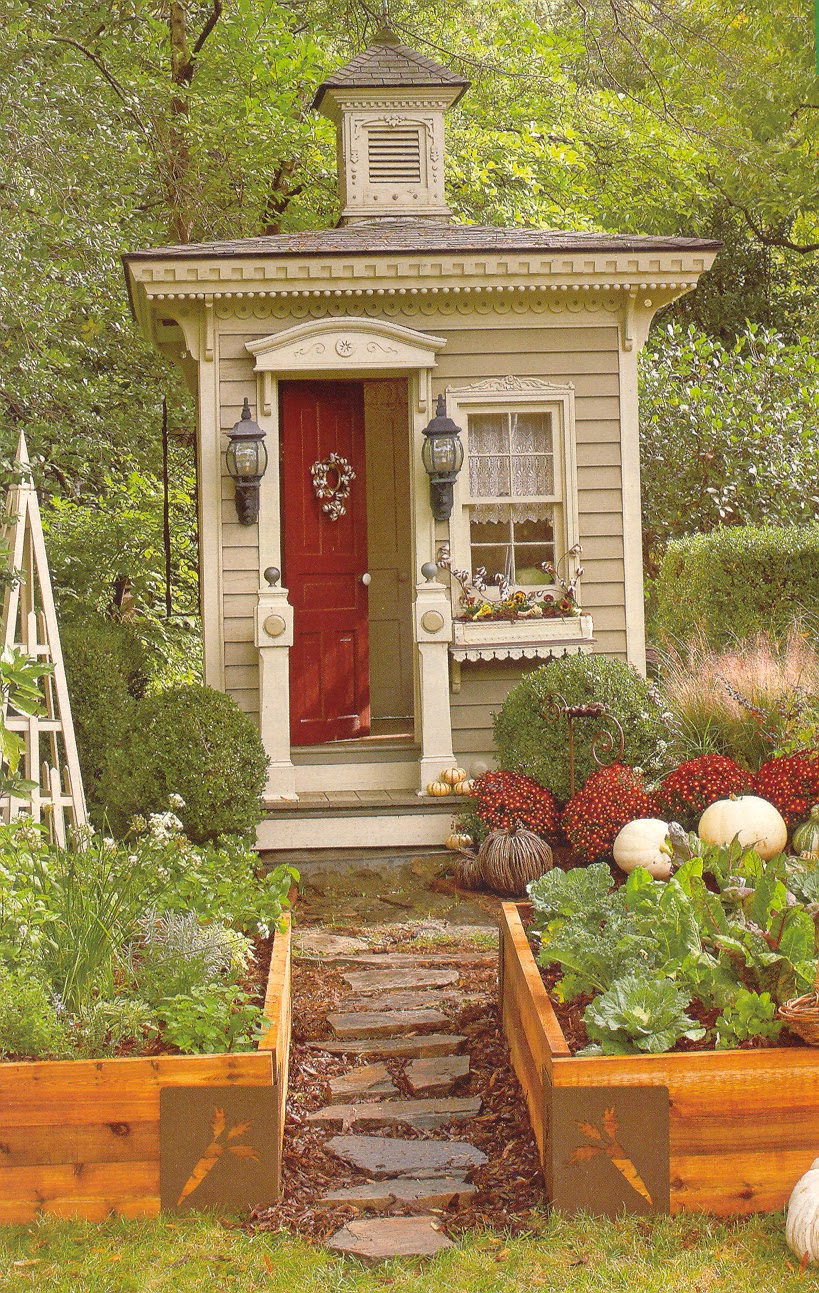 ... .com: a TINY victorian outhouse, as a small garden shed/cabin retreat