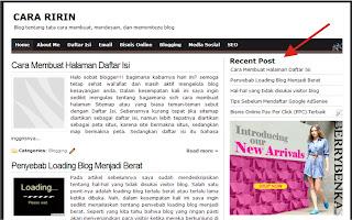 Widget Artikel Terbaru di Blog Dicintai.com