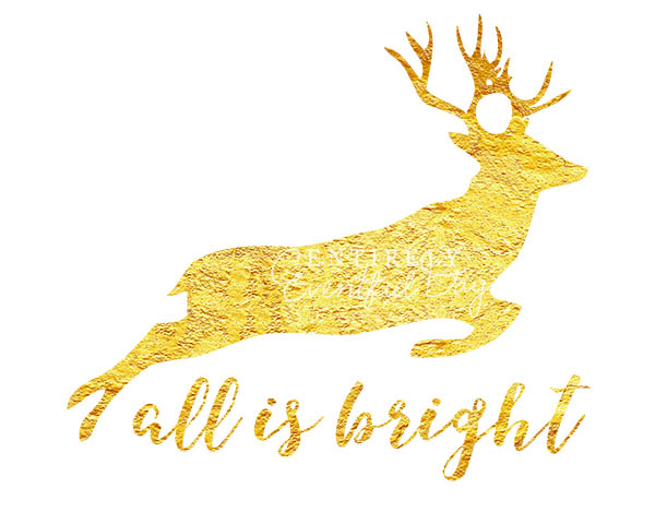 graphic about Deer Silhouette Printable named Cost-free Gold Foil Reindeer Silhouette Printable ~ Absolutely