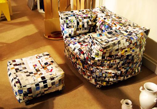 Decore sua casa com m veis reciclados usando moda - Giornali arredamento casa ...