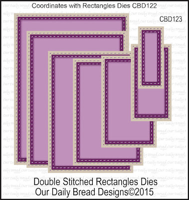 Our Daily Bread Designs Custom Double Stitched Rectangles Dies