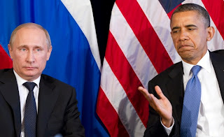 Russia's Vladimir Putin and POTUS Barack Obama
