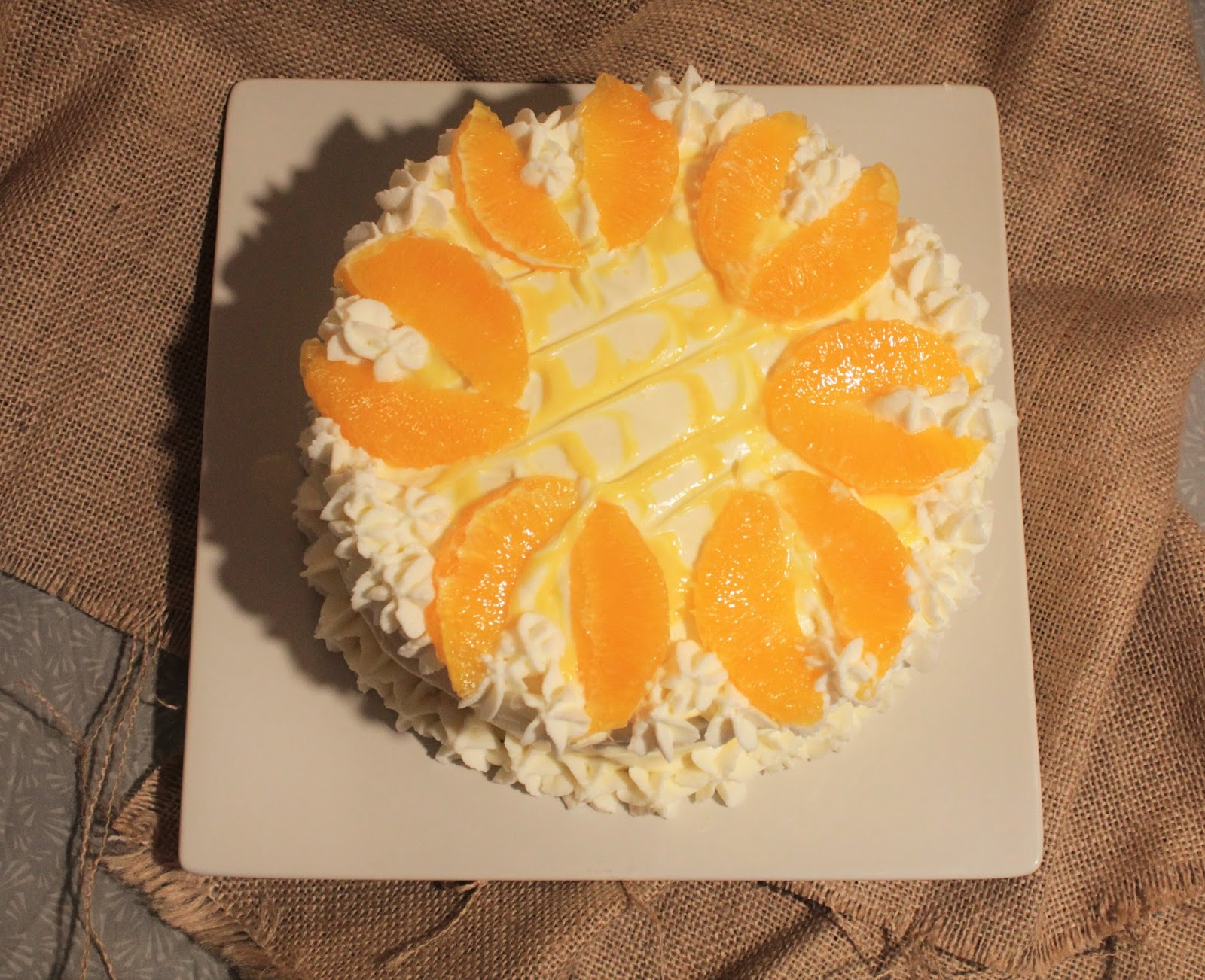 ... Spice: Triple -Layer White Cake With Orange Curd Filling And Frosting