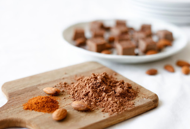 Raw Cacao and Almond Butter Fudge