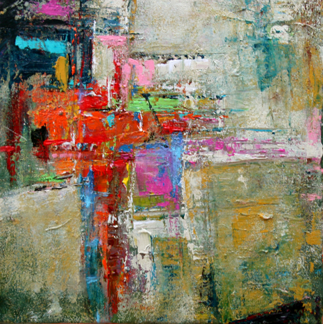 Daily painters abstract gallery afflatus modern for Contemporary mural artists