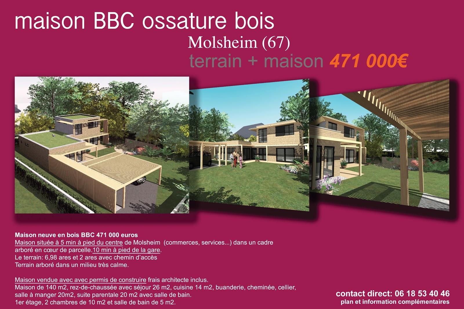 maison bbc bois vendre molsheim 67 architecte maison bois paris alsace. Black Bedroom Furniture Sets. Home Design Ideas