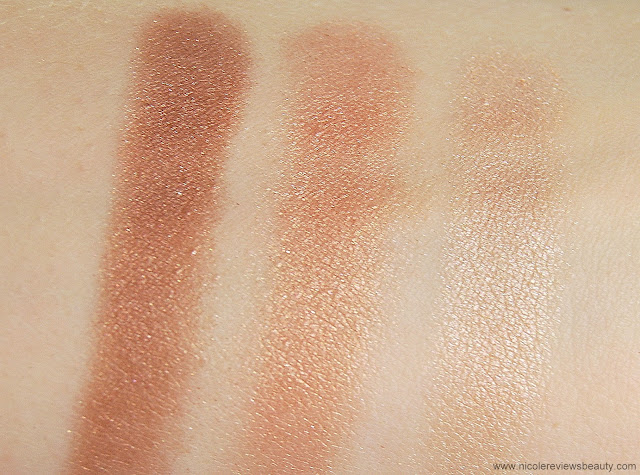 Annabelle Cosmetics Trio Eyeshadow in Creme Caramel Swatches