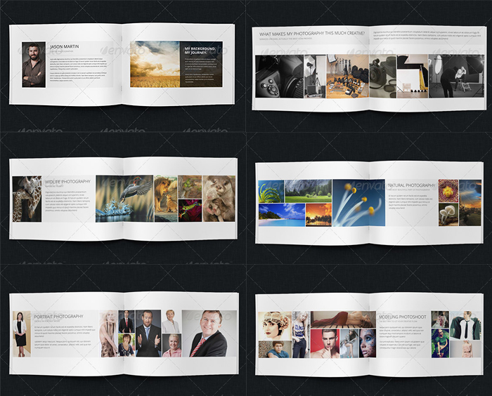 Best Photography Portfolio Brochure Design Template Graphicbattle - Portfolio brochure template