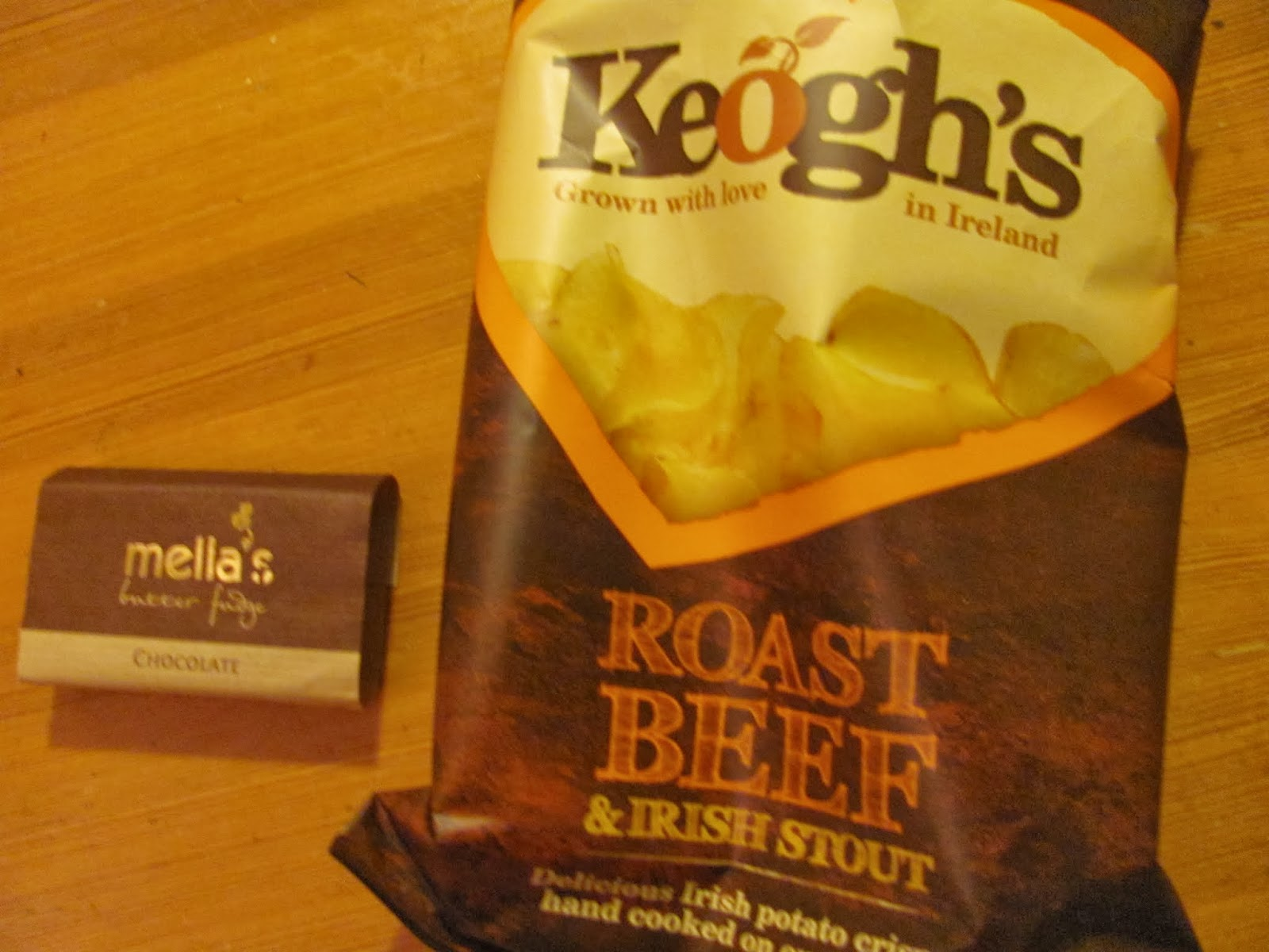 Keogh's crisps and Irish fudge