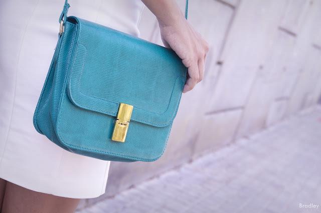 bolso verde turquesa suiteblanco