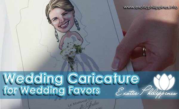 Wedding Caricature for Wedding Favors