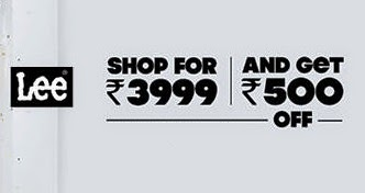 Steal Offer on Lee Fashion Wear at Myntra : Flat Rs.500 Off + Extra 35% or 33% Off (Valid on Cart Value of Rs.3999 or above)