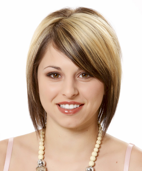 Latest Short Hairstyles for Round Faces 2013