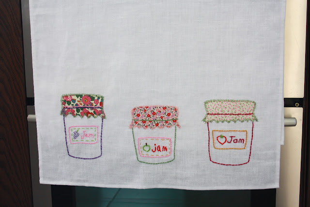 Homemade kitchen towels applique cywopimu over