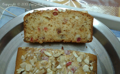 eggless light fruit cake