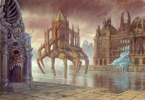 10-Life-of-the-City-Marcin-Kołpanowicz-Painting-Architecture-in-Surreal-Worlds-www-designstack-co