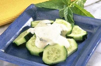 Ensalada de pepino con yogurt