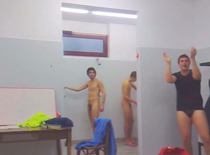 Own Private Locker Room Italian Soccer Players Naked In The Showers