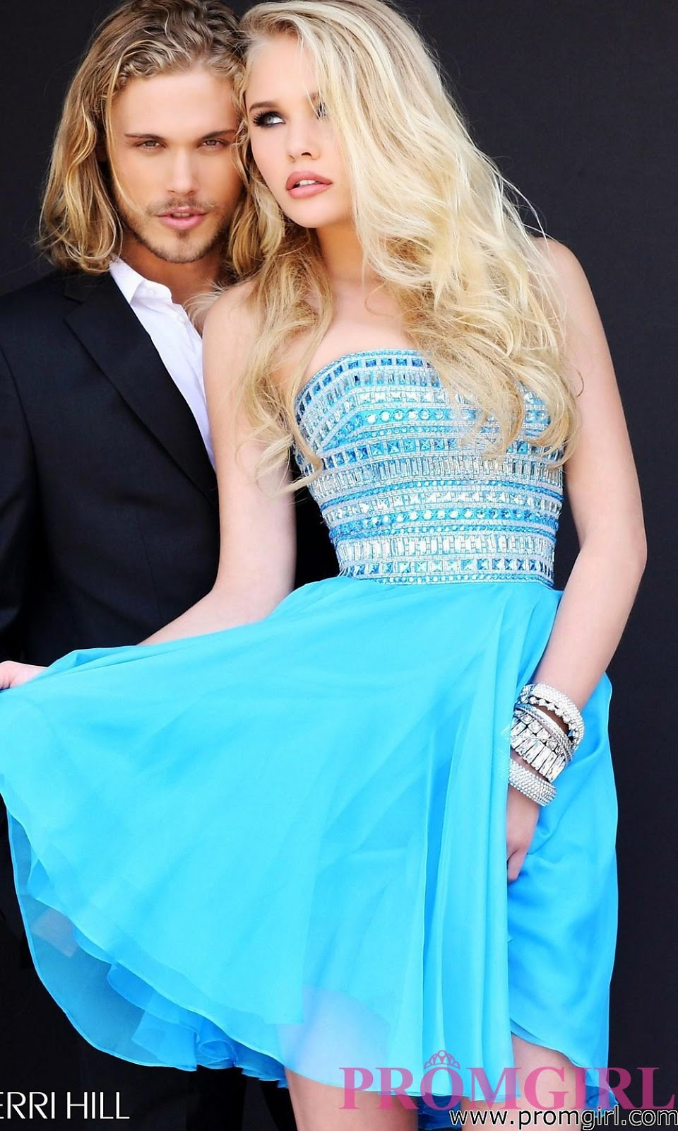 Short Strapless Dress by Sherri Hill with price