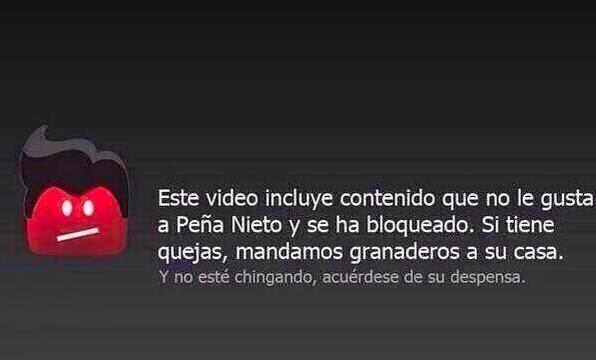 bloqueo de internet, censura por gobiernos, copyright, ISP y otros ( Leyes, telecomm, peña nieto, pri, Youtube ).