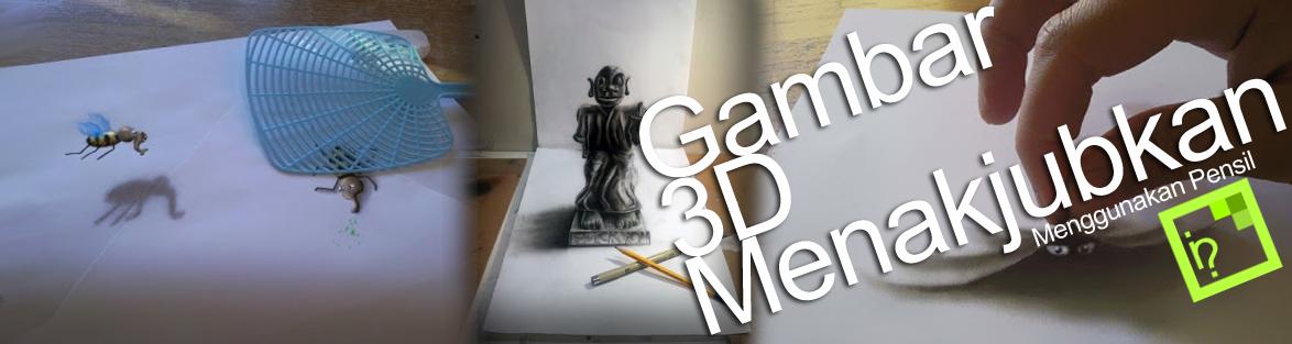 Lukisan 3D mungkin sudah biasa dilukiskan pada kanvas atau di tembok-tembok dan seniman yang satu ini mempunyai ide kreatif dengan menggambar objek 3D hanya dengan menggunakan pensil dan kertas, dia adalah Ramon Bruin seorang seniman berbakat berumur 31 tahun, ia lulusan dari dari Academie Airbrush di Belanda.