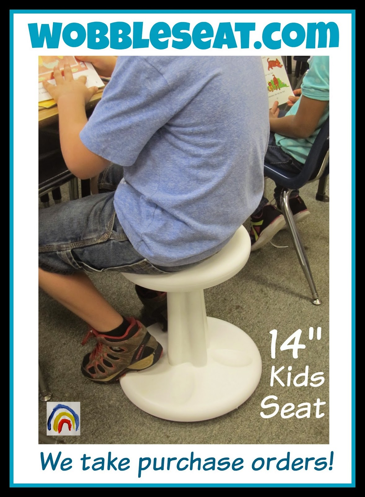Wobble Seat in the First Grade Classroom via WobbleSeat.com