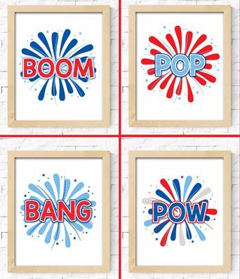 LATEST IN THE SHOP: Four FUN Fireworks Printables