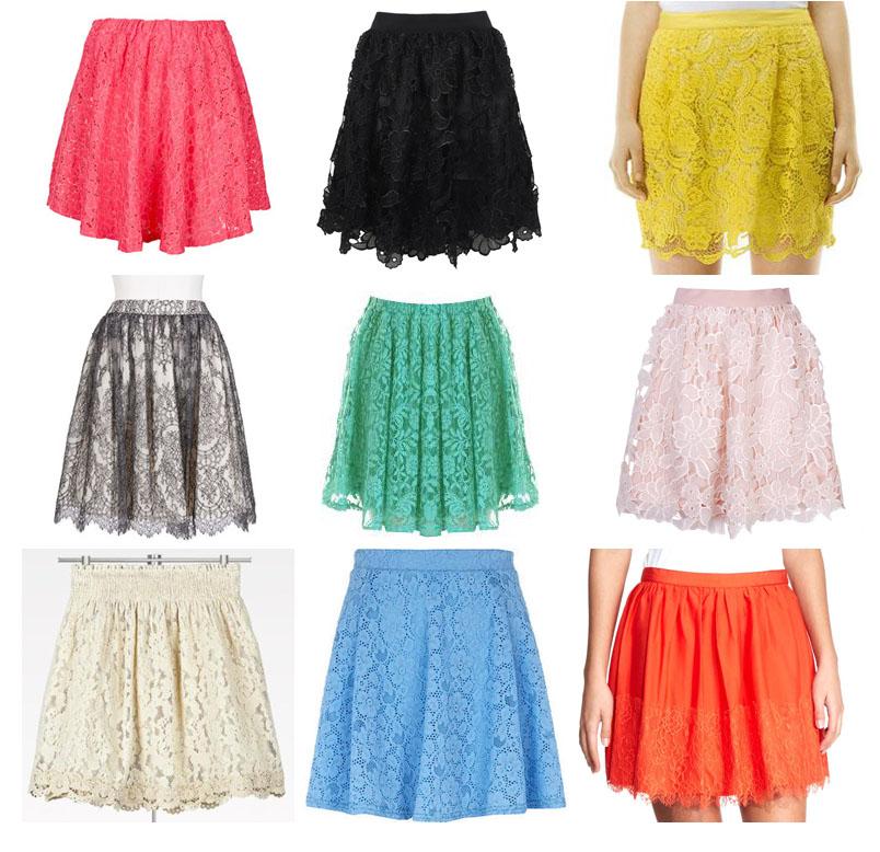 DIY Ropa: Cómo hacer falda de encaje