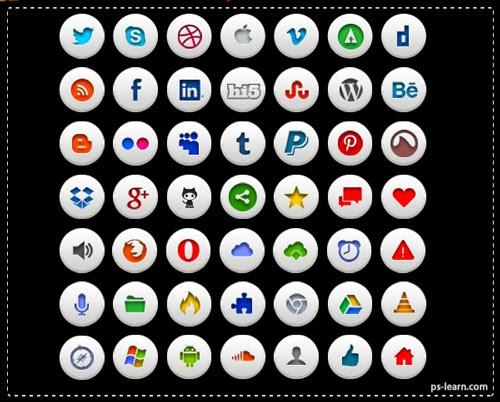 ايقونات الشبكات الاجتماعية