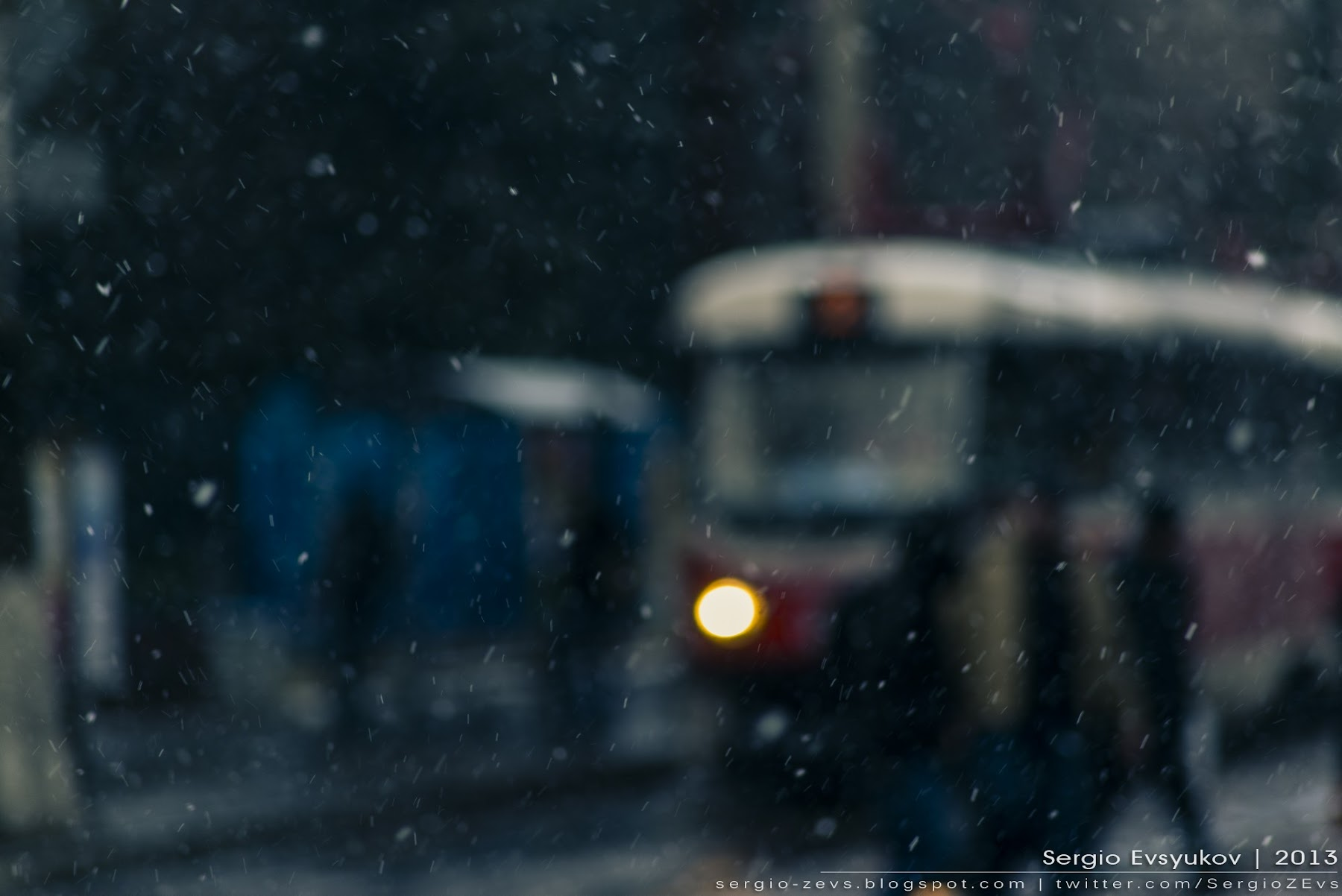 Snow and tram
