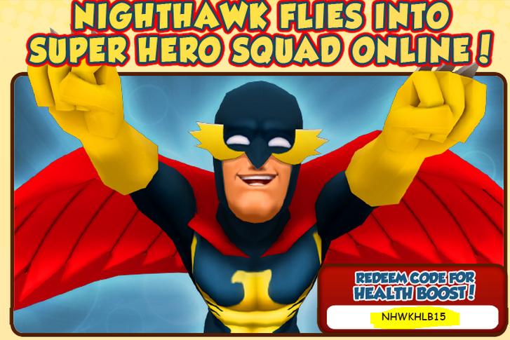 2015 Super Hero Squad Online Codes