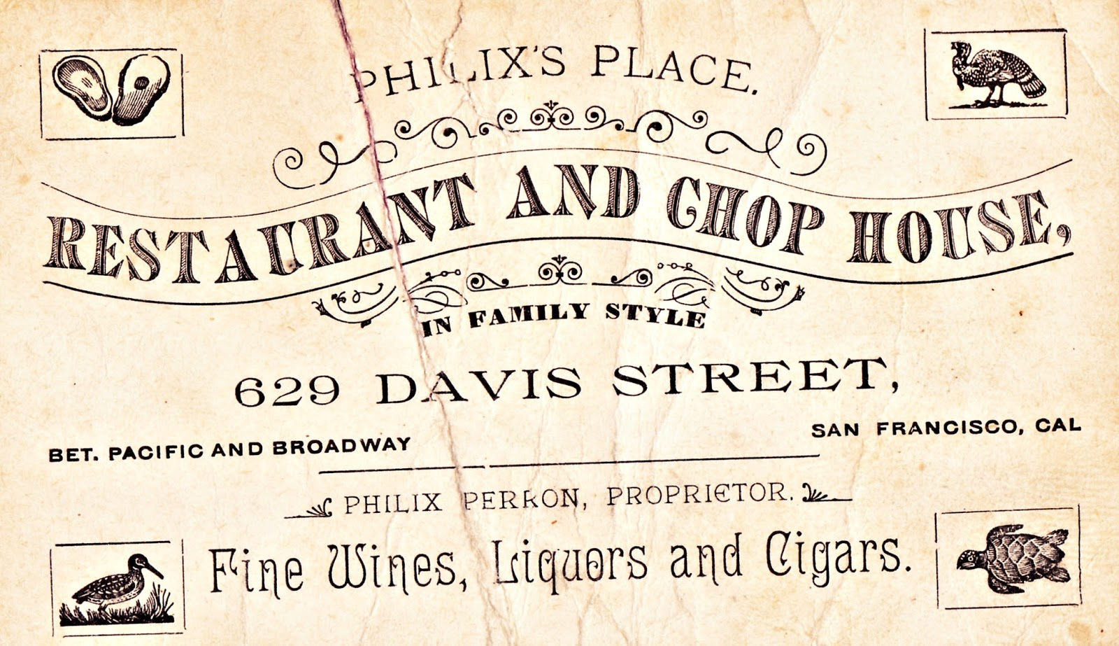 Boulevard de L\'antique - Retro Scraps: Vintage Restaurant Business Card