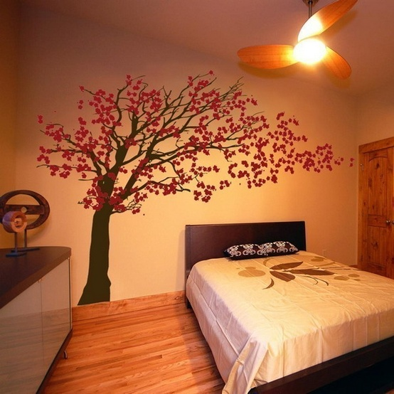 Cherry Blossom Blowing Tree Wall Decal