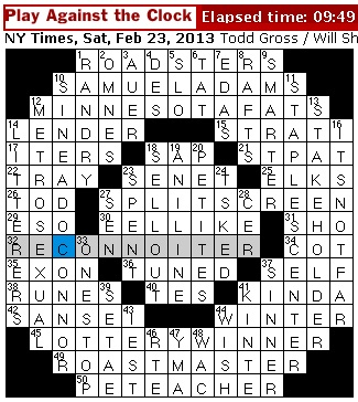 Rex Parker Does The Nyt Crossword Puzzle Violin Virtuoso Leopold Sat 2 23 13 Board Game Found In Egyptian Tombs Yeomen Of Guard Officer Dublin Born Singer With 1990 1 Hit