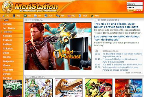Meristation, una web de noticias sobre videojuegos