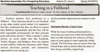 teaching in a fishbowl, teachers and social media, how to be safe online