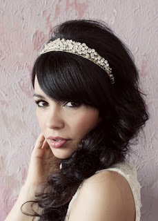 frenchie rhinestone headband