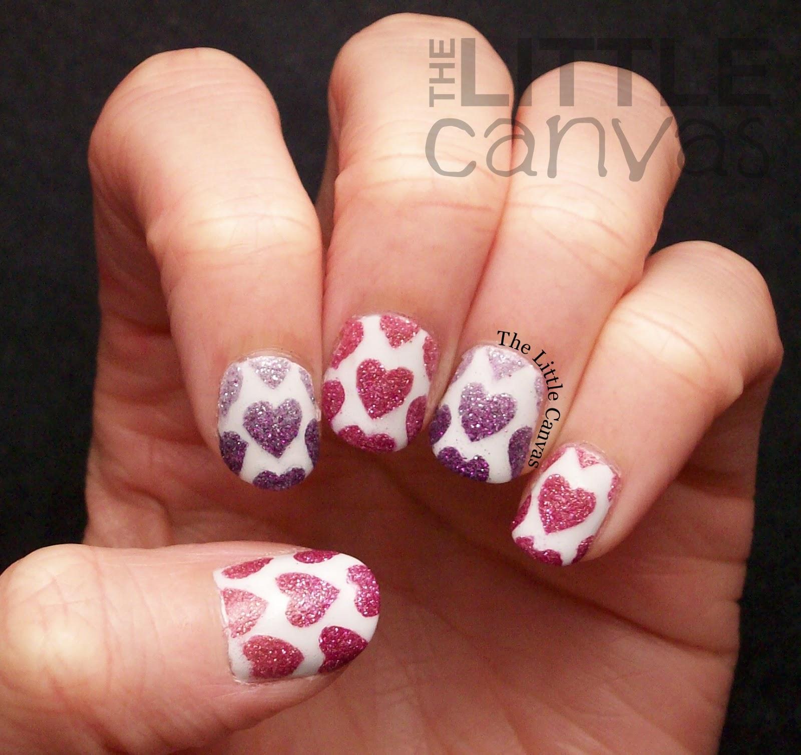 Happy Valentine\'s Day! Zoya Pixie Dust Heart Nail Art! - The Little ...