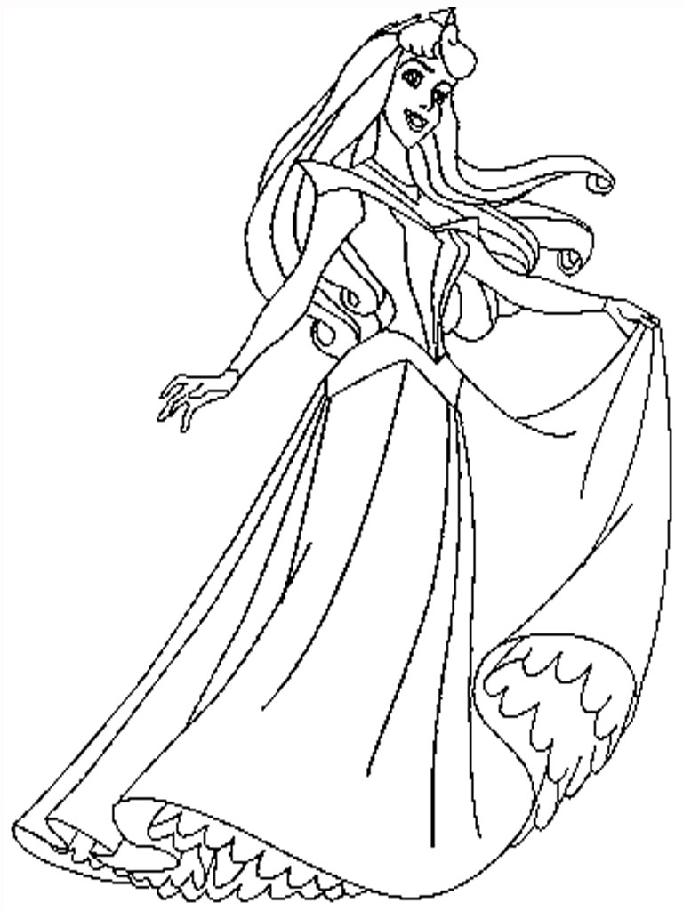 Free Coloring Pages Of Sleeping Beauty