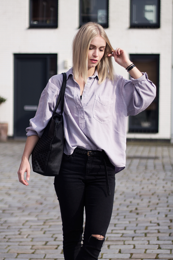 Fashion Attacks outfit ootd Lilac blouse