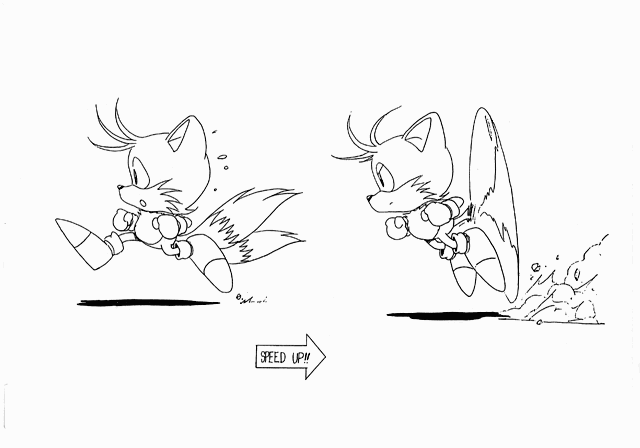 classic tails coloring pages