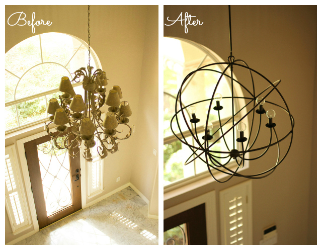 Today Iu0027m Sharing A Before And After Look At The Main Lighting Fixtures We  Updated In Our Home!