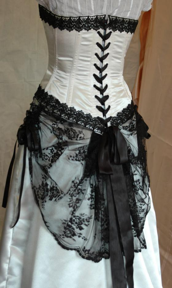 Wedding dress wedding dresses design with black corset for Black designer wedding dresses