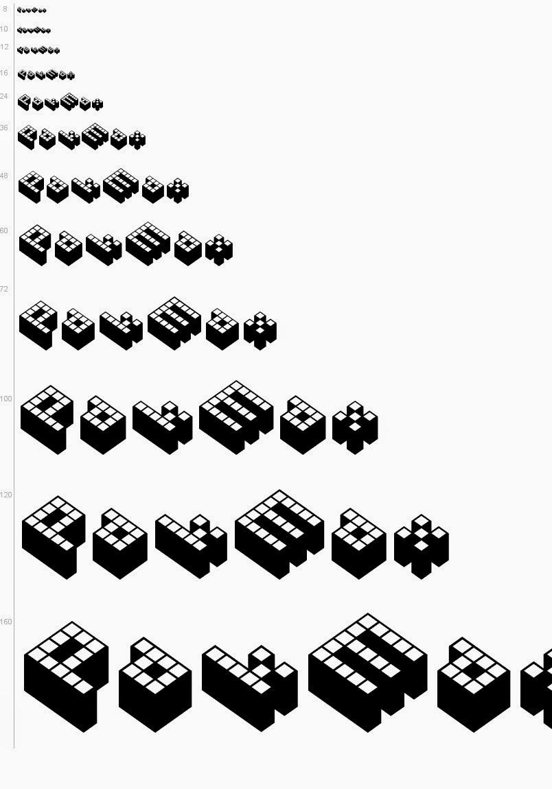 Cubicle 3D font