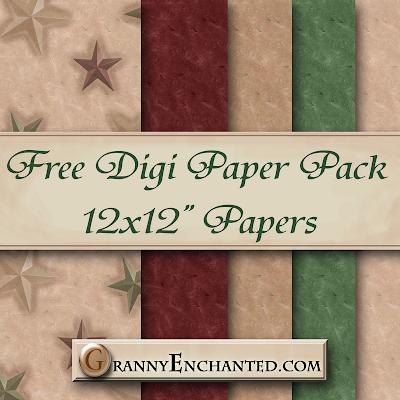 """Free """"Suede Stars"""" Digi Scrapbook Paper Pack"""