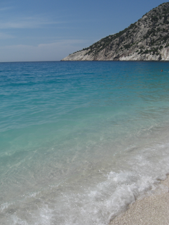 Mirtos beach - perfect turquoise beach greek islands, kefalonia