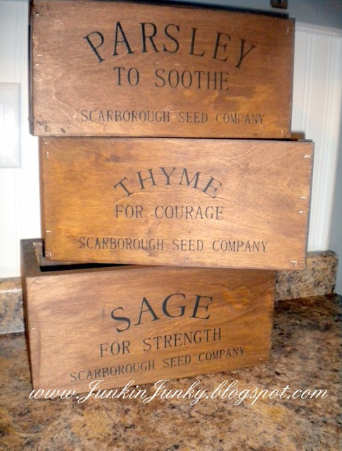 Rustic Herb Crates